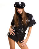 Sexy woman dressed in security style Stock Image