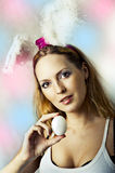 Sexy woman - easter bunny Stock Photos