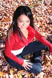 Sexy Woman In Fall fashion Outdoors Royalty Free Stock Photo