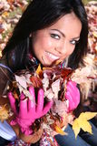 Sexy Woman In Fall fashion Outdoors Royalty Free Stock Image