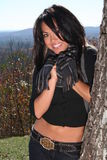 Sexy Woman In Fall fashion Outdoors Stock Photography