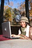 Sexy Woman In Fall fashion Outdoors Royalty Free Stock Photography