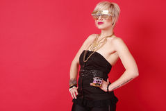 woman with fashion accessories Stock Image