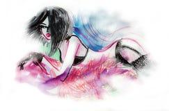 Sexy Woman Fashion Illustration Royalty Free Stock Image