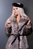Sexy woman in fur Royalty Free Stock Image