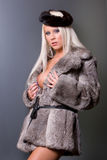 Sexy woman in fur Royalty Free Stock Photography