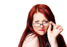 Sexy woman with glasses Stock Images