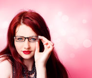 Sexy woman with glasses Royalty Free Stock Photography