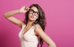 Sexy woman with glasses Royalty Free Stock Image