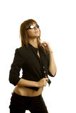 Sexy woman in goggles Royalty Free Stock Images