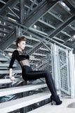 Sexy woman, great body doing a fashion shoot Stock Photos