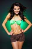 Sexy woman on Green Stock Photos