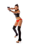 Sexy woman with gun Royalty Free Stock Photography