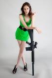 Sexy Woman With Gun Stock Photos
