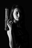Sexy woman with Gun Stock Image