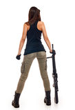 Sexy Woman with Guns Stock Photo
