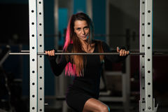 Woman In Gym Posing At The Camera Royalty Free Stock Photography
