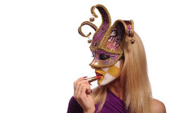 Sexy woman in half mask Royalty Free Stock Photography