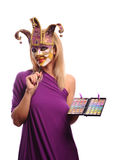 Sexy woman in half mask Royalty Free Stock Image