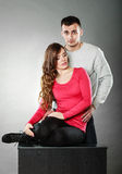 Sexy woman and handsome man. Sensual couple. Stock Images