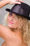 Sexy woman with hat Royalty Free Stock Images