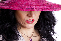 Woman With Hat Royalty Free Stock Image