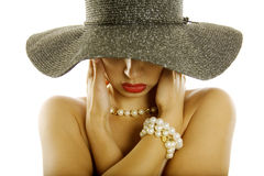 Sexy woman in hat Stock Photography
