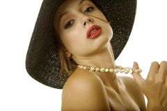 Sexy woman in hat Royalty Free Stock Photography