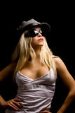 Sexy woman with hat and sunglasses Royalty Free Stock Photo