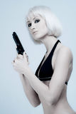 Sexy woman holding gun Stock Photography