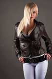 Sexy woman in a jacket Royalty Free Stock Photos