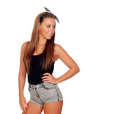 Sexy woman in jean shorts Royalty Free Stock Photography