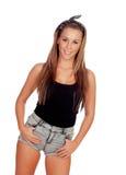 Sexy woman in jean shorts Stock Photos