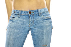 Sexy Woman in Jeans Royalty Free Stock Images