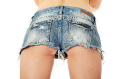 Sexy woman in jeans shorts. Stock Photo