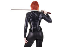 Sexy woman with katana Royalty Free Stock Images