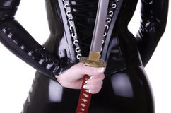 Sexy woman with katana Royalty Free Stock Photos