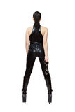 Sexy woman in latex catsuit and high heels boots Royalty Free Stock Photography