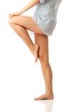 Sexy woman legs. Isolatd on white background Stock Photos