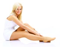 Sexy woman legs Stock Image