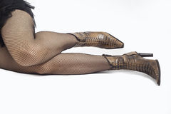 Sexy woman legs. And boot Stock Photography