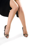 Sexy woman legs in black shoes Royalty Free Stock Image