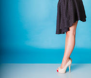 Sexy woman legs in high heels. Royalty Free Stock Images