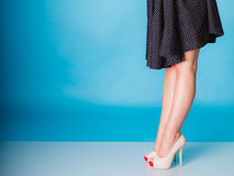 Sexy woman legs in high heels. Royalty Free Stock Photography