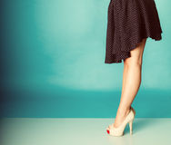 Sexy woman legs in high heels. Royalty Free Stock Photo