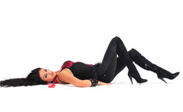 Sexy Woman Lying Down Stock Photography