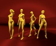 Sexy woman mannequins posing Royalty Free Stock Image