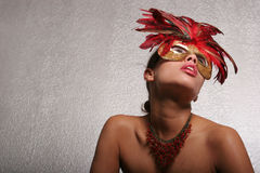 Sexy woman in mask Royalty Free Stock Photo