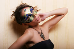 Sexy woman in mask Royalty Free Stock Photography