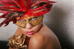 Sexy woman in mask Royalty Free Stock Photos